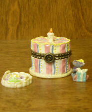 Boyds Treasure Boxes  392144 BAILEY'S BIRTHDAY CAKE w/ H B McNIBBLE, 2E NEW/box