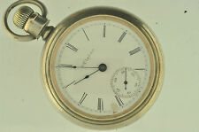 VINTAGE 18 SIZE ELGIN POCKETWATCH GRADE 147 G.M WHEELER. NICE COIN SILVER CASE!