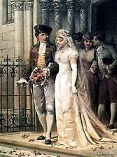 Victorian Wedding~counted cross stitch pattern #697~People Graph Brides Chart