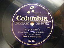 COJO DE MALAGA Columbia RS 311 FLAMENCO 78 SAETA No.1 & 2