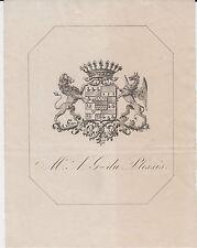 EX-LIBRIS ALEXANDRE GITTON du PLESSIS (1800-1888) - BLOIS (LOIR-ET-CHER)