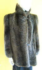 Womens Vtg 1940s HILLMOOR Faux RACCOON Fur JACKET M? GREAT Condition & QUALITY