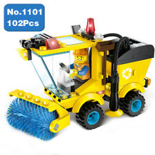 Enlighten 1101 City Sweeper Car Yellow Clean Vehicle Figure Building Blocks Toy
