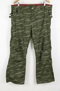 686 Men's Bonded Fleece Polyester Green Camo Connect System Pants XL