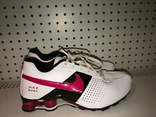Nike Shox Deliver Girls Youth Athletic Shoes Size 7Y Womens 8.5 White Black Pink