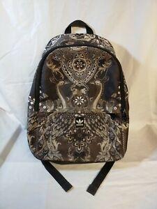 Adidas Originals Black Pavao Peacock Print Backpack RARE Used GC! FREE UK P+P