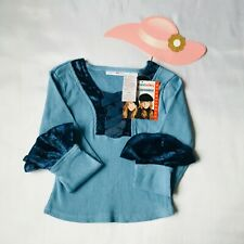 Mary-Kateandashley Top Blouse Girl Long Sleeve Size XS (4/5) Color blue /New