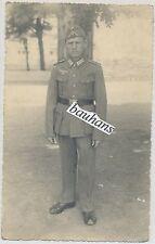 Foto-Portrait Soldat-Feldbluse-Schiffchen-Wehrmacht 2.WK (55)