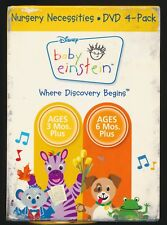 Baby Einstein - Nursery Necessities (DVD, 2009, 4-Disc Set) FREE SHIPPING VG+