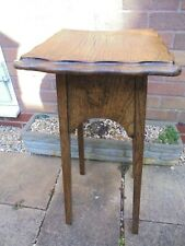 Antique early 20th century plant stand torchere, pie crust edge