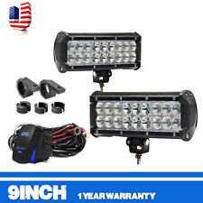 Dual-ROW 9INCH 54W LED LIGHT BAR COMBO OFFROAD 4WD TRUCK ATV UTE SUV 4WD 1