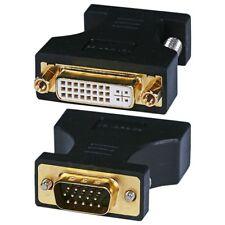 2x VGA to DVI-A Video Adapter VGA (HD15) Male to DVI-A Female Converter Adapter