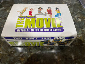 Spice Girls World The Movie 1997 Official Sticker Collection Box 100 Packs New B