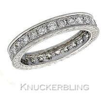 Genuine Diamond Wedding Eternity Ring 1ct F VS Round Brilliant 18ct White Gold