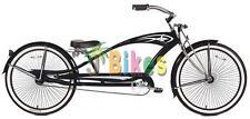 """Micargi Puma GTS Stretch, Matte Black - 26"""" Beach Cruiser Bike"""