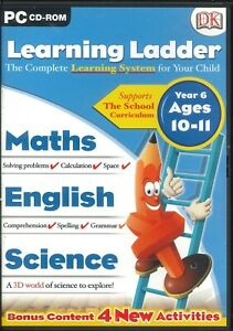 DK Learning Ladder Year 6 Maths, English & Science Lessons PC CD-ROM