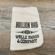 Antique Wells Fargo & Co. Bullion Bag, Bank Deposit Coin Canvas Sack