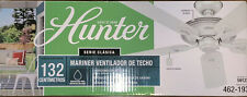 Hunter Mariner 52 in. Indoor/Outdoor White Ceiling Fan Five White Blades
