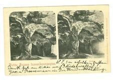 Petite Suisse Luxembourgeoise stereoscopique used postcard 1901 great cancel