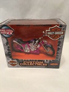 2001 Metal Max Harley Davidson Custom Collectibles 1:17 Scale Motorcycle