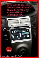 "AUTORADIO 7"" Toyota Yaris 2005-2011 Bluetooth Navigatore Gps Comandi Volante dvd"