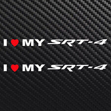I love my SRT-4 decal sticker heart for Dodge  Neon turbo charged