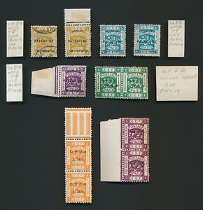 PALESTINE STAMPS 1918-1924 EEF SG #87/89 & OPDA SURCHARGES TO 5 PIASTERS