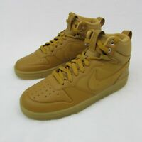 Nike Court Borough Mid Boot Shoes BQ5440-700 Wheat Brown Size 7 Youth Eur 40