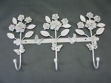 Portemanteau Vestiaire BARRE avec crochets 3 35cm bijoux roses blanc