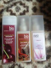 Neobio Bio Naturkosmetik 500ml Duschgel, Deo SPRAY, Reinigungsgel Neu