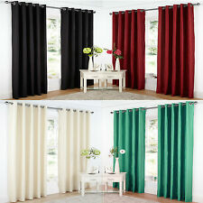"Ring Top Curtains Black Red Teal 66"" x 54"" 66"" x 90"" 90"" x 90"""