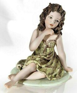 Statuina in porcellana italiana Figura di donna segno Vergine dello zodiaco