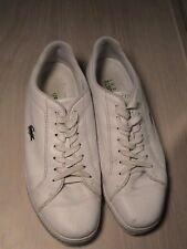 Lacoste Sport Leather Men's White Shoe Size 13 USA