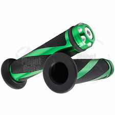 "Green CNC Twist Hand Grip 7/8"" Universal Grippy Handle Bar 22mm Left Right"