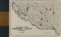 A4 Reprint of America Cities Towns States Map Sherburne County Minnesota