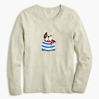 J. Crew Bulldog-print Teddie sweater, XXS. NEW!