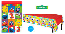 Sesame Street 1ST Birthday Party Supplies TABLE COVER Tablecloth 54 x 96 Inch