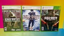 3 COD Games XBOX 360 Complete Call of Duty 4 Modern Warfare Black Ops World War
