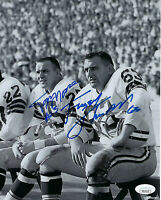 PACKERS Fuzzy Thurston & Tom Moore signed 8x10 photo JSA COA AUTO Autographed