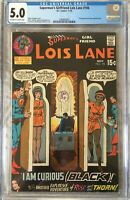 "DC =Lois Lane=#106 CGC 5.0 certified ""Black Curious"" +2 other LL comics Superman"