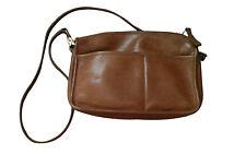 Coach Vintage Women Saddle Brown Leather Crossbody Bag.  Medium 10.5 x 7.5 x 2.5