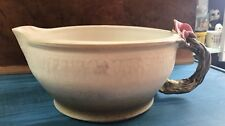 Artisan Studio Hand Crafted POTTERY Mixing Bowl w/Pour Spout & Handle Signed
