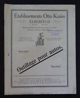 Catalogue OTTO KRAISS outillage pour autos serrure cadenas pince catalog
