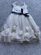 Girls Beautiful Monsoon Dress Age 5 NEW