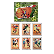AFG9706 Football France 98 block and 6 stamps
