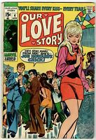Our Love Story   No.4 (Marvel April 1970) 15c Romance Comic Stan Lee in VG