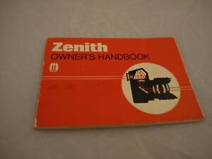 Genuine Zenith CAMERA Owners Handbook Instruction Book Photography SLR vintage