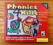 Phonics 4 kids pc cd-rom Swift Jewel Ages 3-10 Windows 2000 Xp Children's Learn