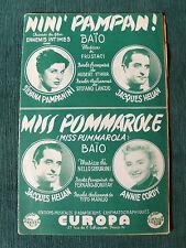 NINI PAMPAN ! di FRUSTACI - MISS POMMAROLE di SEGURINI - Partition eds EUROPA