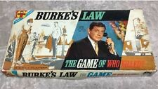 Vintage 1963 Transogram Burke's Law Gene Barry ABC TV Board Game UNPUNCHED
